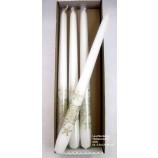 """1 Leuchterkerze """"Spitzenstern"""" weiß  ca. 2,5x2,5x29 cm"""