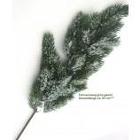 Künstlicher Tannenzweig grün geeist ca. 65 cm