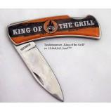"""Taschenmesser mit Spruch """"King of the Grill"""" ca. 10,0 x 0,8 x 3,5 cm"""