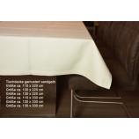 Tischwäsche Tischdecke 110 x 330 cm sandgelb gemustert