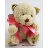 Teddy - mit rosa Schleife lose gebunden, ca. 8 cm