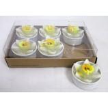 """Teelichter  """"Narzisse"""" 6er Packung, weiß ca. 4 cm"""