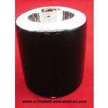 Teelichthalter - Capri - Schwarz / Silber glänzend ca. 8 x 8 x 9 cm (L/B/H)