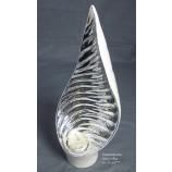 Teelichtleuchte/Teelichthalter weiss - silber Höhe ca. 32cm
