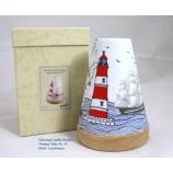 Teelichtleuchter Vintage Style Leuchtturm mehrfarbig ca. 14,5 cm hoch
