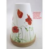 Teelichtleuchter Vintage Style  Nr.32 Mohnblumen rot/weiß ca. 14,5 cm hoch