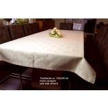 Tischwäsche Tischdecke 130 x 330 cm sandgelb Blatt