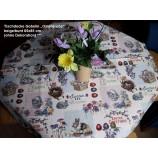 Tischdecke Gobelin Ostergrüße beige/bunt 85x85 cm