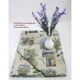 Tischdecke - Lavendelgarten - mehrfarbig, Gobelin ca. 85 x 85 cm