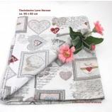 Tischdecke - Love Herzen - mehrfarbig ca. 85 x 85 cm