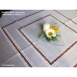 Plauener Spitze Tischdecke creme/weiß ca. 83x83 cm