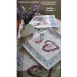 Tischläufer - Lavendelherz - mehrfarbig, Gobelin ca. 38x100 cm