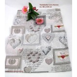 Tischläufer - Love Herzen - mehrfarbig ca. 38 x 130 cm