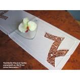Tischläufer Plauener Spitze creme/weiß ca. 26x70 cm