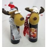 """1 Flasche Kräuterlikör in Tonflasche """"Frohes Fest"""" mit Elchmütze, sortiert 0,2l"""