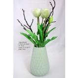 Tulpenstrauß 5 Blüten, künstlich weiß  ca. 42cm, ohne Vase