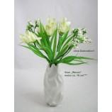 """Keramik-Vase """"Waves"""" weiß glasiert, ca. 16 cm hoch"""