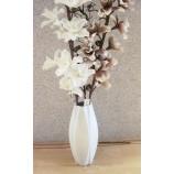 Keramik-Vase Weiß-mattglasiert ca. 40 cm