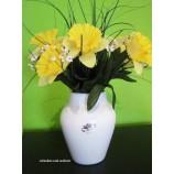 """Keramik-Vase """"Clip"""" weiß mit Reaktionsglasur, ca.20 cm hoch"""