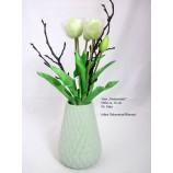 Keramik-Vase Sommermix Mint Perlmutt-Finish, ca. 18 cm hoch
