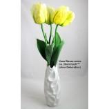 """Keramik-Vase """"Waves"""" weiß glasiert, ca. 29 cm hoch"""