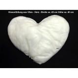 Kissenfüllung aus Vlies Herz ca. 45 x 40 cm (BxH)