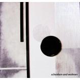Modernes Wandbild Kreis schwarz mit Glasleiste verziert 60 x 60 cm