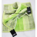 Waschtuch Noblesse Cashmere Streifen, Kiwi ca. 30 x 30 cm