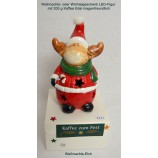 Kaffee zum Fest 200 g mit LED-Figur Weihnachts-Elch