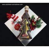 Weihnachtspräsent fertig verpackt Edellikör 0,2 l Schoko-Kirsch Tanne