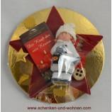 Weihnachtspräsent fertig verpackt Keramik Winterkind sortiert