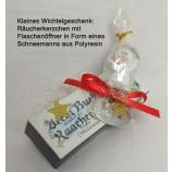 Wichtelgeschenk Räucherkerzchen mit Flaschenöffner
