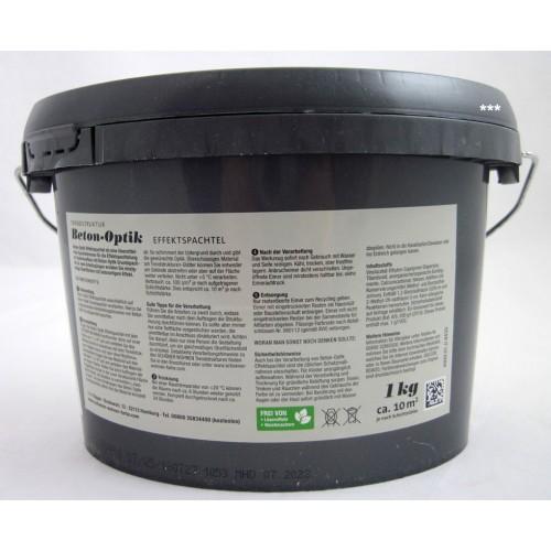 Beton-Optik Effektspachtel 1 Kg Schiefergrau Schöner