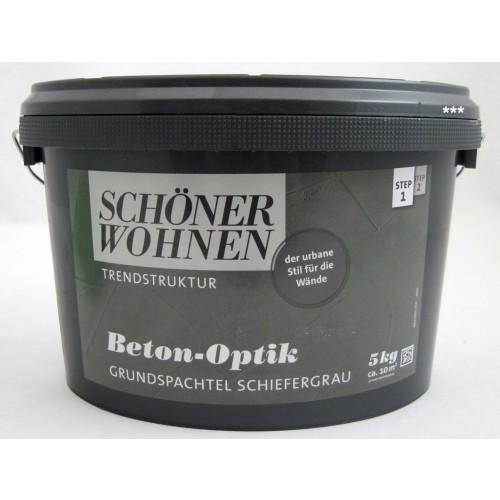 Beton-Optik Grundspachtel Schiefergrau 5 Kg Schöner Wohnen