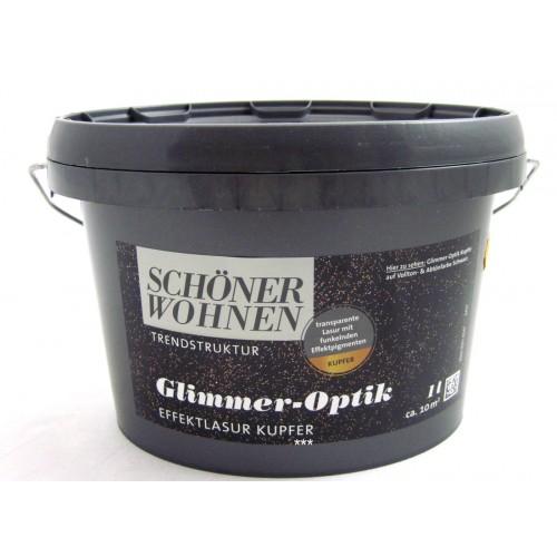 Glimmer-Optik Effektlasur Schöner Wohnen Kupfer 1 L