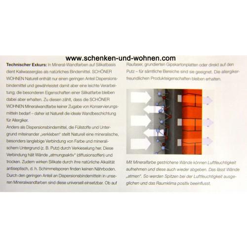 Schöner Wohnen Wandfarbe Naturell Felsgrau Matt 7 5 L: Schöner Wohnen Mineral-Wandfarbe Felsgrau 7,5 L